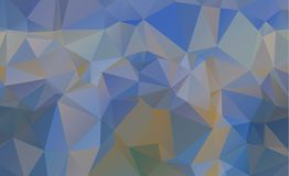 Olygonal abstract background consisting of triangles blue color Royalty Free Stock Photography