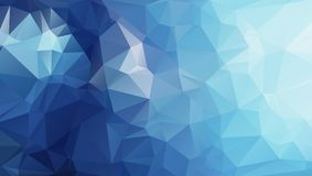 Olygonal abstract background consisting of triangles blue color Stock Photos