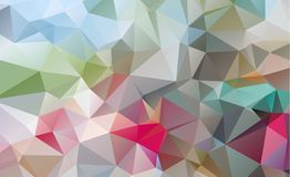 Olygonal abstract background consisting of triangles blue color.  vector illustration