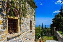 Olymp Mountain monastery Stock Photo