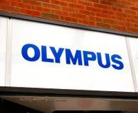 Olymp-Zeichen stockfoto
