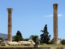 Olympeion, the temple of Olympian Zeus Stock Photo