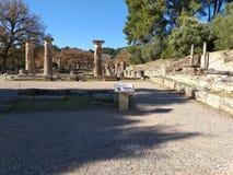 Olympia antiguo en Grecia fotografía de archivo libre de regalías