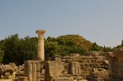 Olympia de temple Photos stock