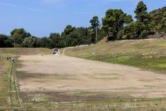 Olympia födelseort av olympiska spel, i Grekland Arkivfoton