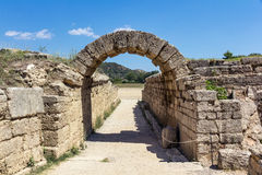 Olympia Greece. Olympia ancient stadium in Greece Royalty Free Stock Images