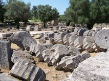 Olympia Greece Ruins Stock Photography