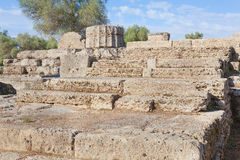 Olympia Greece stone steps to temple Royalty Free Stock Photo