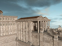 Olympia - A greek fantasy background Royalty Free Stock Photos