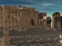 Olympia - A greek fantasy background Stock Photos