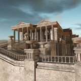 Olympia - A greek fantasy background Stock Image