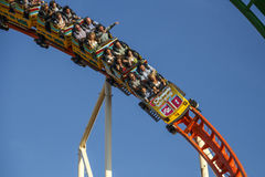 Olympia Looping Roller coaster ride at Oktoberfest in Munich, Ge Stock Image