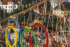 Olympia Looping Roller-Küstenmotorschifffahrt bei Oktoberfest in München, GE Stockfotos