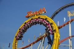 Olympia Looping Roller-Küstenmotorschifffahrt bei Oktoberfest in München, GE Lizenzfreies Stockfoto