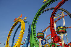 Olympia Looping Roller-Küstenmotorschifffahrt bei Oktoberfest in München, GE Lizenzfreie Stockbilder