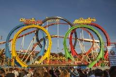 Olympia Looping Roller-Küstenmotorschifffahrt bei Oktoberfest in München, GE Stockbild