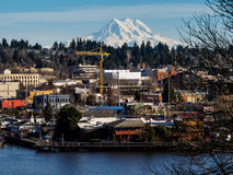 Olympia And Mt rainier images stock