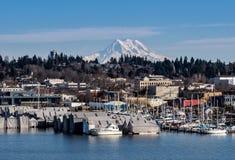 Olympia And Mt. Rainier stock photo