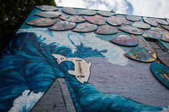 Olympia Mural Photo stock