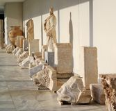 Ancient statues, Olympia, Greece stock photo