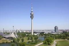 Olympia Park em Munich, Baviera foto de stock royalty free