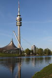 Olympia Park en BMW, München, Beieren, Duitsland, Olympiapark Stock Foto