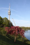 Olympia Park, München, Beieren, Duitsland, Olympiapark Stock Foto