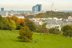 Olympia park in Munich, Bavaria, Germany stock photography
