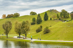 Olympia park in Munich, Bavaria, Germany stock images