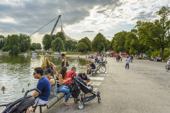 Olympia park Munich, Germany Royalty Free Stock Photography