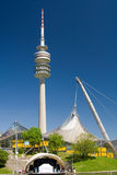 Olympia Park and Tower. The Olympia Park in Munich, where 1972 the olympic games took place Royalty Free Stock Image