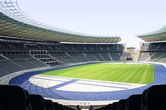 Olympiastadion Berlin. Deutschland, Spielfeld Royalty Free Stock Images