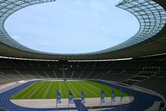 Olympiastadion Berlin. Deutschland, Spielfeld Stock Photos