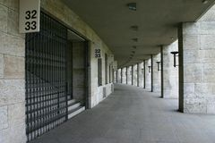 Olympiastadion Berlin. Deutschland, Tribünenzugang Stock Image