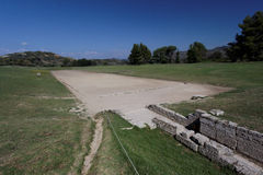 Olympia Stadium Greece Stock Photography