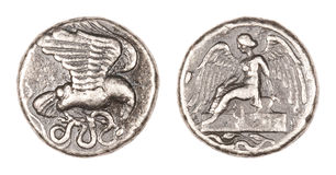Olympia Stater Coin Stockfotografie