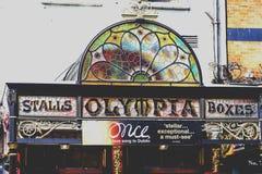 Olympia Theatre en Dame Street dans le secteur de barre de temple de Photographie stock libre de droits