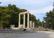 Olympia - waar de toorts-drager zijn reis begon (#) Stock Fotografie