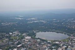 Olympia Washington Aerial View of Capital Building. Aerial View of the Capital Building in Olympia, Washington State Royalty Free Stock Photos