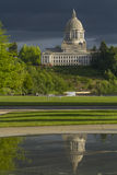 Olympia Washington Capital Building with Dark Sky Stock Photography