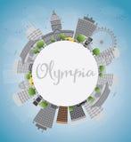 Olympia (Washington) Skyline with Grey Buildings Stock Images