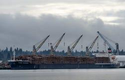 Fully Loaded Logging Ship, Olympia Washington