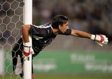 Olympiacos Goalkeeper Tomislav Butina Royalty Free Stock Photo