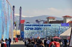 Olympiagelände bei XXII Winterolympiade Sochi Lizenzfreies Stockfoto