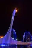 Olympiagelände in Sochi nachts Stockbild
