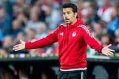 Olympiakos教练员教练Marco森林区 库存照片