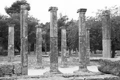 Olympian Columns Stock Image