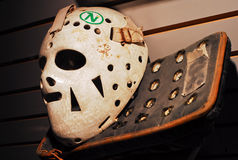Olympian Jim Craig's Mask and Blocker Stock Photo
