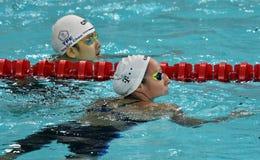 Olympian swimmer Evelyn VERRASZTO HUN Royalty Free Stock Photos