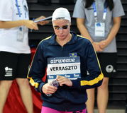 Olympian swimmer Evelyn VERRASZTO HUN. Hong Kong, China - Oct 29, 2016. Olympian swimmer Evelyn VERRASZTO HUN at the start in Women`s Freestyle 200m Final. FINA Stock Photos